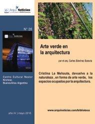 Arte verde en  la arquitectura por el arq. Carlos Sánchez Saravia