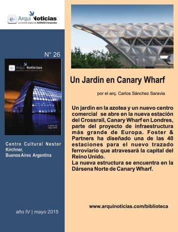 Un Jardin en Canary Wharf por el arq. Carlos Sánchez Saravia