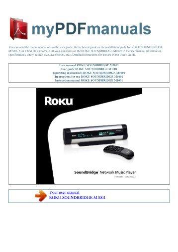 user manual roku soundbridge m1001 my pdf manuals rh yumpu com Roku SoundBridge Alternative roku soundbridge m1001 manual