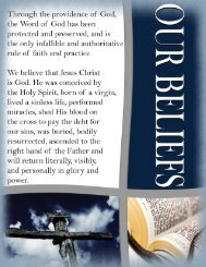 Welcome Book - Our Beliefs