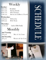 Welcome Book - Schedule