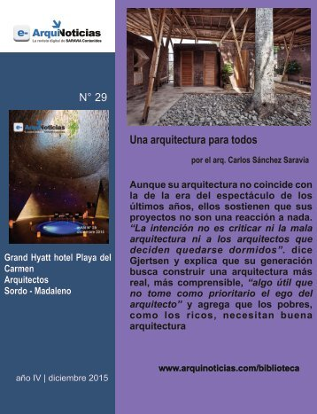 Una arquitectura para todos por el arq. Carlos Sánchez Saravia