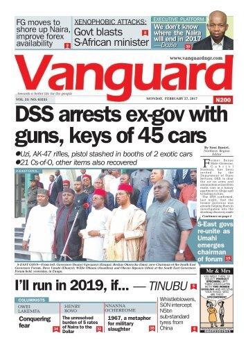 27022017 DSS arrests ex-gov with guns, keys of 45 cars