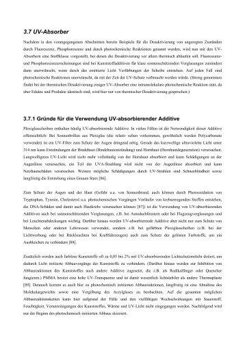 3.7 UV-Absorber - Chemie und ihre Didaktik, Universität Wuppertal