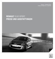 RENAULT CLIO SPORT PREISE UND ... - Auto Motor und Sport