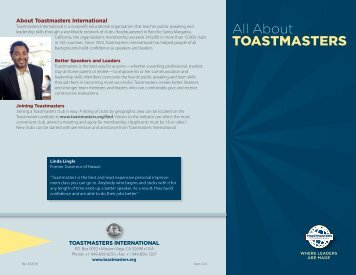 124 All About Toastmasters