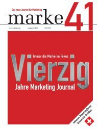Jahre Marketing Journal - marke41