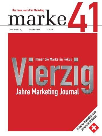 Jahre Marketing Journal - marke41