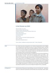 In den Strassen von Delhi - Filme für eine Welt