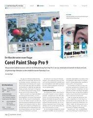 Der Klassiker unter neuer Flagge Corel Paint Shop Pro 9