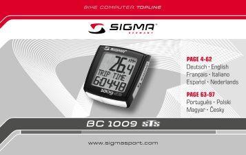 Bedienungsanleitung Sigma BC 1009 STS - Kinderfahrrad