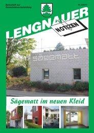 Sägematt im neuen Kleid - Einwohnergemeinde Lengnau BE