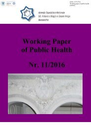 Working Paper of Public Health Nr 11/2016