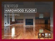 Benefits of Hardwood Floor Refinishing
