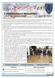 Coombeshead Academy Newsletter - Issue 52