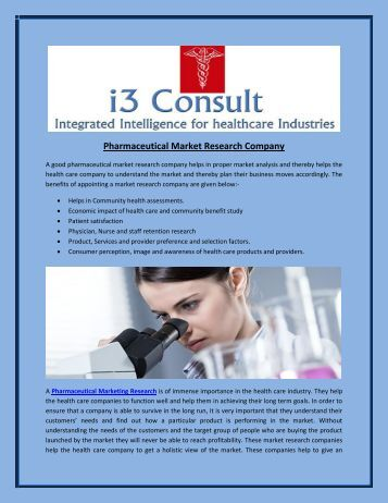 Pharmaceutical Market Research Company