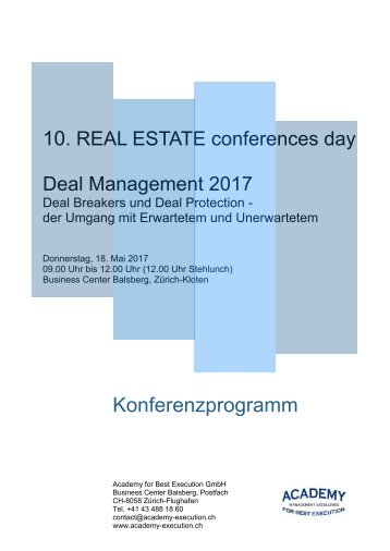 Konferenzprogramm Deal Management