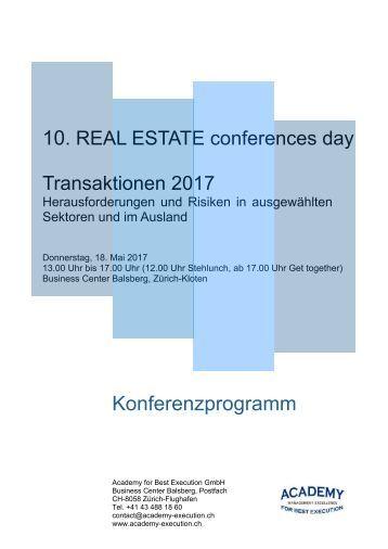 Konferenzprogramm Transaktionen