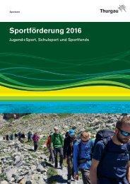 Sportförderung 2016 - Sportamt Thurgau