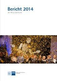 Jahresbericht 2014 IHK zu Dortmund