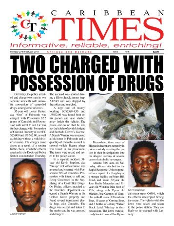 Caribbean Times 6th Issue - Monday 27th February 2017