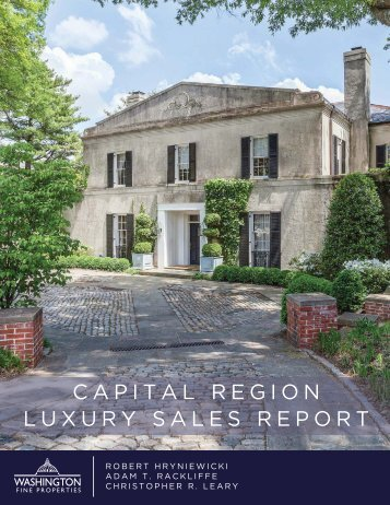 CAPITAL REGION LUXURY SALES REPORT