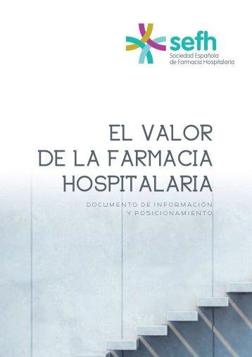 EL VALOR DE LA FARMACIA HOSPITALARIA