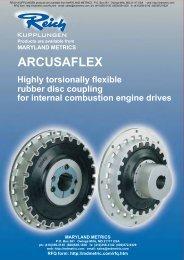ARCUSAFLEX flywheel couplings - Maryland Metrics