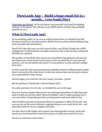 FlowLeads App review and (MEGA) bonuses – FlowLeads App