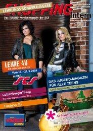 Das JugenD-Kundenmagazin der SCS - Shopping-Intern