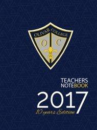 cuaderno de docente olivar college 2017
