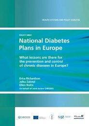 National Diabetes Plans in Europe