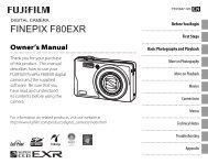 FinePix F80EXR / F85EXR - Fujifilm