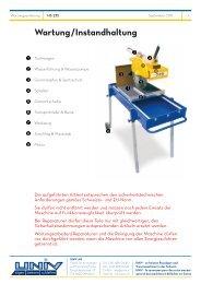 Wartung/Instandhaltung - Univ AG