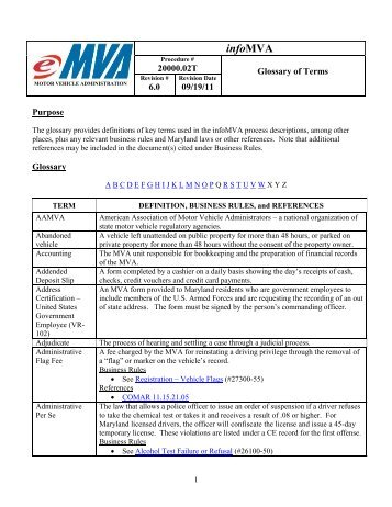 Manual del conductor maryland motor vehicle for Motor vehicle administration md