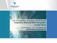 Integrating BPM and SOA Using MDA A Case Study