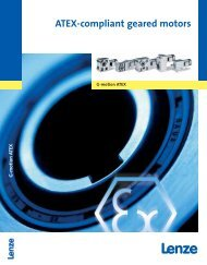 Catalogue ATEX-compliant geared motors - Lenze