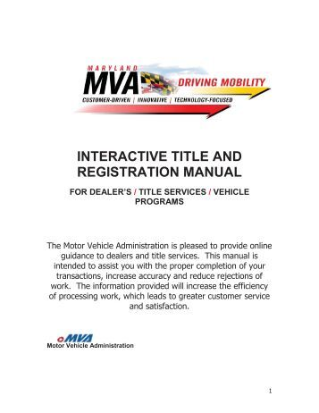 Conditional vehicle registration application support for Maryland motor vehicle registration renewal