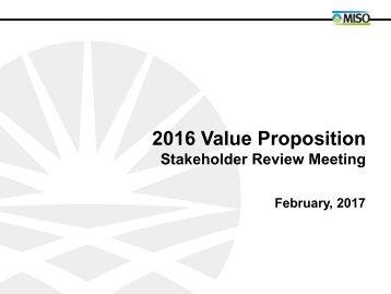 2016 Value Proposition