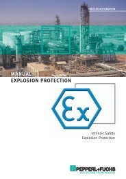 MANUAL EXPLOSION PROTECTION - Pepperl+Fuchs
