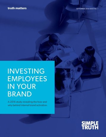 INVESTING EMPLOYEES IN YOUR BRAND