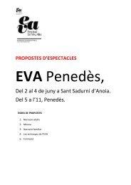 Dossier Propostes Espectacles Eva'17