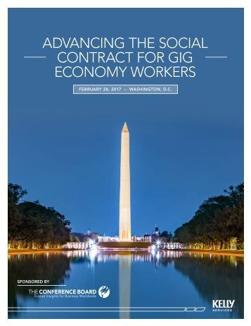 ADVANCING THE SOCIAL CONTRACT FOR GIG ECONOMY WORKERS