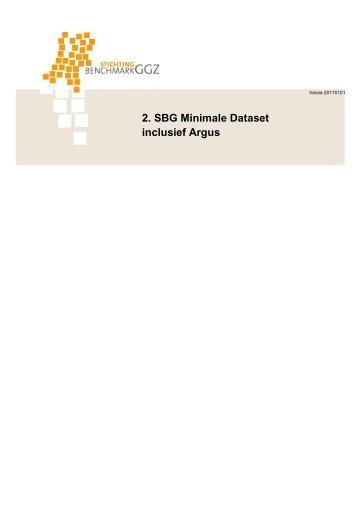 2 SBG Minimale Dataset inclusief Argus