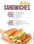 The Clubhouse Caters Menu - Page 6