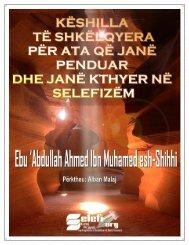 07 - Këshilla të Shkëlqyera për ata që janë penduar dhe janë kthyer në Selefizëm
