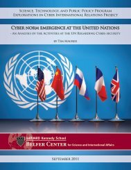 Cyber norm emergence at the United Nations - Belfer Center for ...