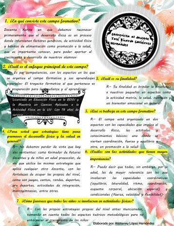 ENTREVISTA DE DESARROLLO FISICO Y SALUD