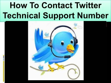 Twitter Technical Support 1-888-269-0130 Helpline Toll Free Number