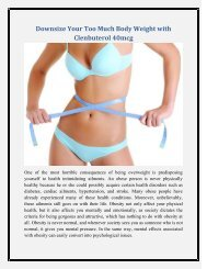 Trim Your Too Much Body fat and Weight with Clenbuterol